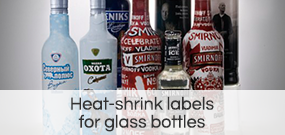 Heat-shrink labels  for glass bottles
