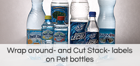 Wrap around - labels on Pet bottles